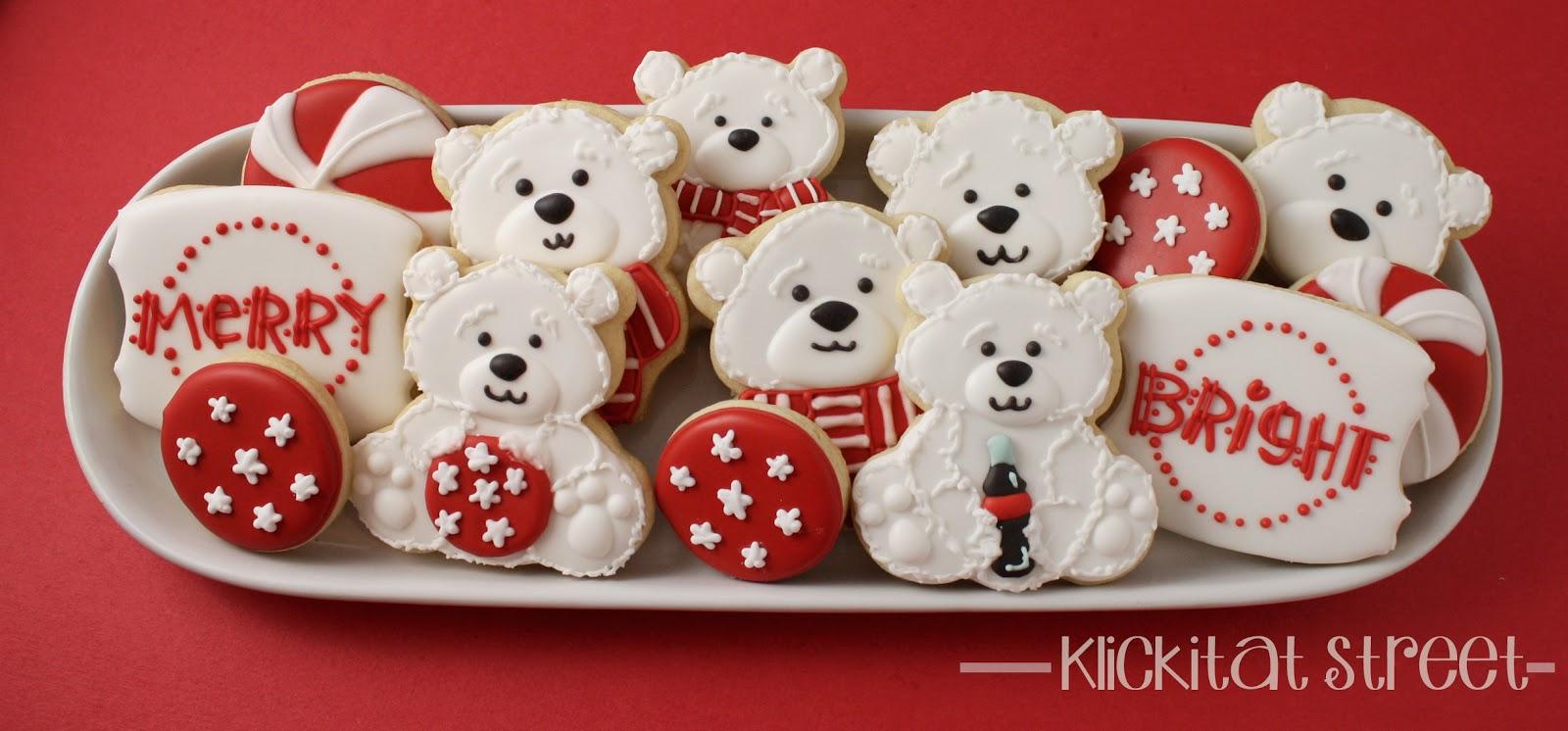 KlickitatStreet Coca Cola Polar Bears Cookie Platter
