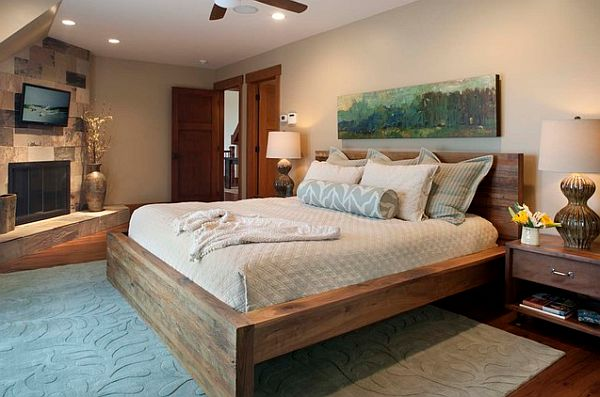Cool-heavy-bed-frame-in-wood