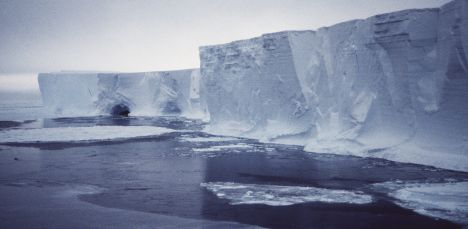 The Mertz Glacier is seen in the Australian Antarctic Territory in this undated handout photo